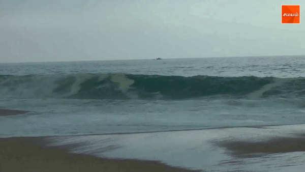 sea water comes inside the village in kanyakumari district