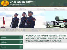 indian army to start online registration of women for recruitment as soldiers into the military police