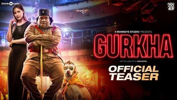 comedy actor yogi babu starrer gurkha movie official teaser released now