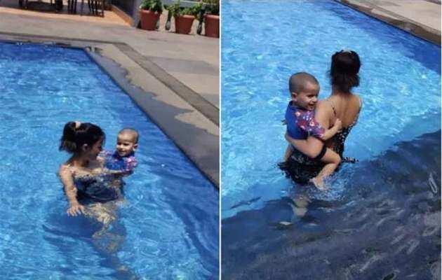 Shweta Tiwari's pool pictures with son Reyansh are just adorable!