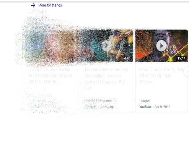 Google सर्च में थानोस के 'स्नैप' से गायब हो रहे हैं सर्च रिजल्ट्स