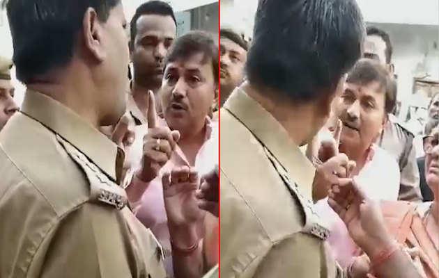 लोकसभा चुनाव: कानपुर में भाजपा नेता ने पुलिस अफसर के साथ की बदसलूकी, विडियो हुआ वायरल