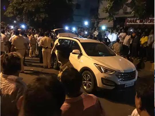 विवाद के बाद मौके पर पुलिस