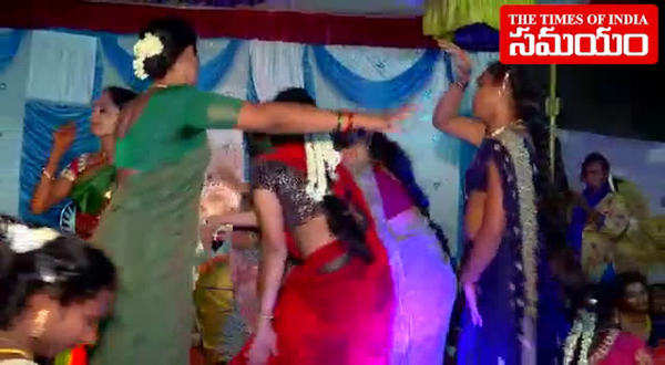 transgenders dancing in tirupati marriage ceremony