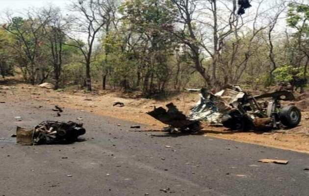 महाराष्ट्र: गढ़चिरौली में नक्सली हमले में 15 जवान शहीद