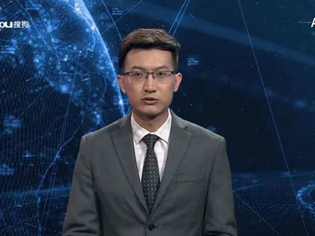 Xinhua न्यूज पर दुनिया का पहला AI एंकर।