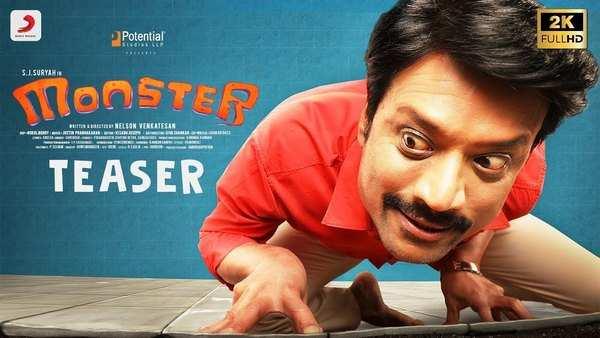 actor sj surya and priya bhavani shankar starrer monster official teaser tamil