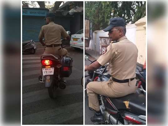 Police without helmet ?? No rules for them