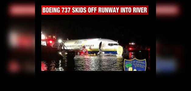 US: सेंट जॉन्स नदी में गिरा बोइंग 737, बाल-बाल बचे 143 लोग