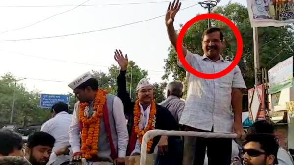 delhi cm arvind kejriwal slapped during roadshow on may 3