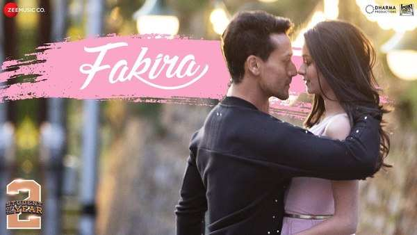 student of the year 2 song fakira tiger shroff ananya pandey releases watch video