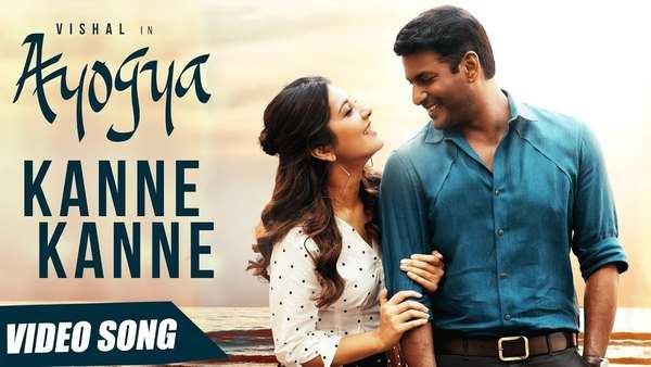 actor vishal and raashi khanna starrer kanne kanne full video song from ayogya movie