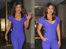 after met gala s weird look priyanka chopra looked sexy in a blue jumpsuit