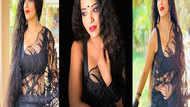 ब्लैक साड़ी में छा गईं मोनालिसा की हॉट तस्वीरें