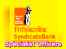 syndicate bank has announces job openings for specialist officer posts