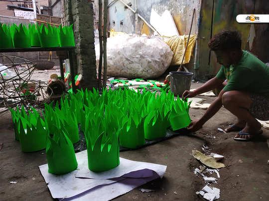 lok sabha election 2019 kolkata dumdum dompara vote symbol makers