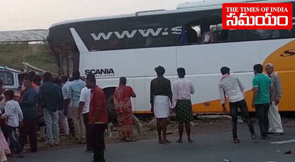 watch kurnool road tragedy 15 killed