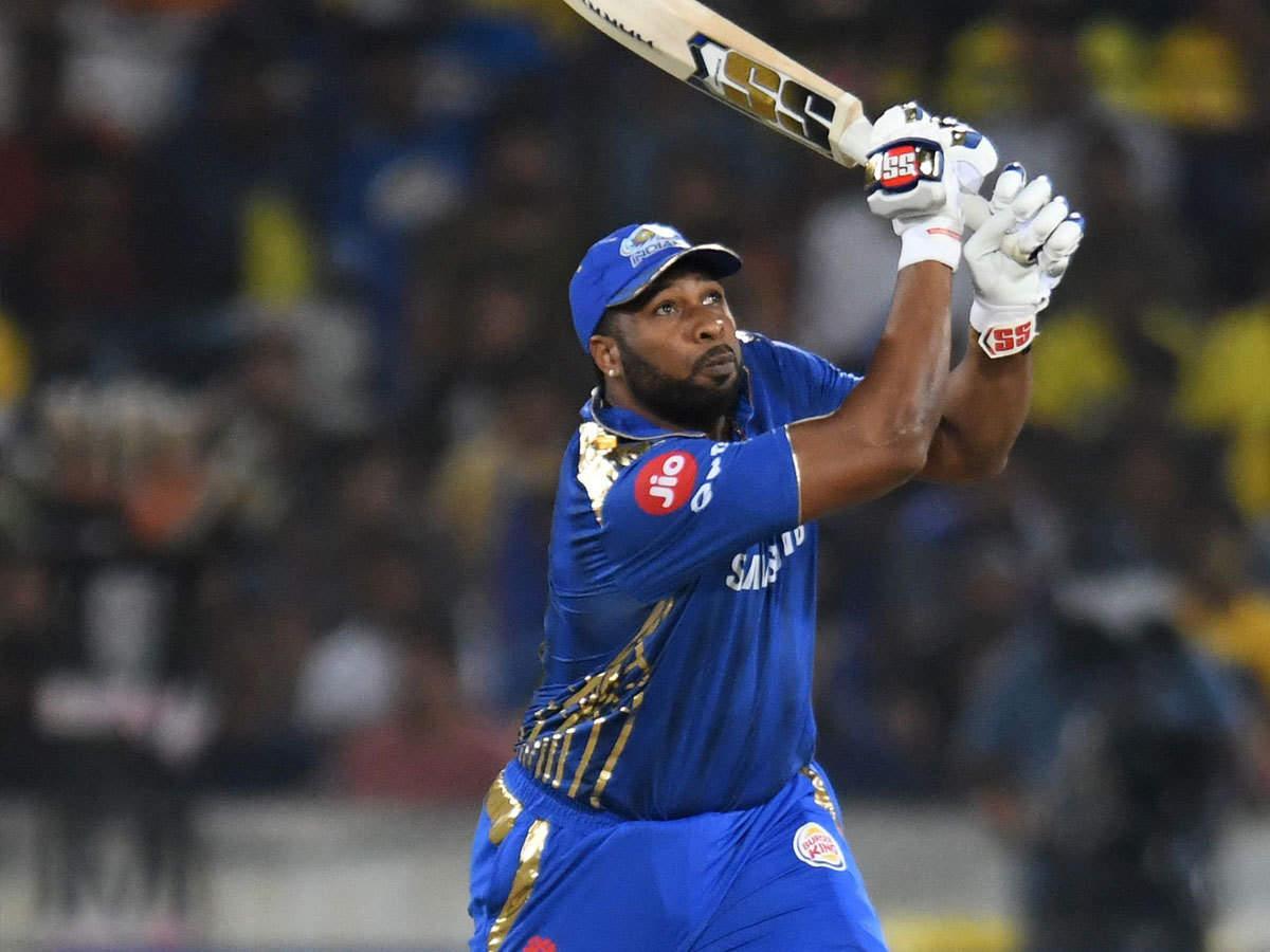 kieron pollard fined: IPL 2019 Final: मुंबई के स्टार खिलाड़ी कायरन पोलार्ड  पर मैच फीस का 25% जुर्माना - kieron pollard fined 25% of match fee for  showing dissent at an umpire's