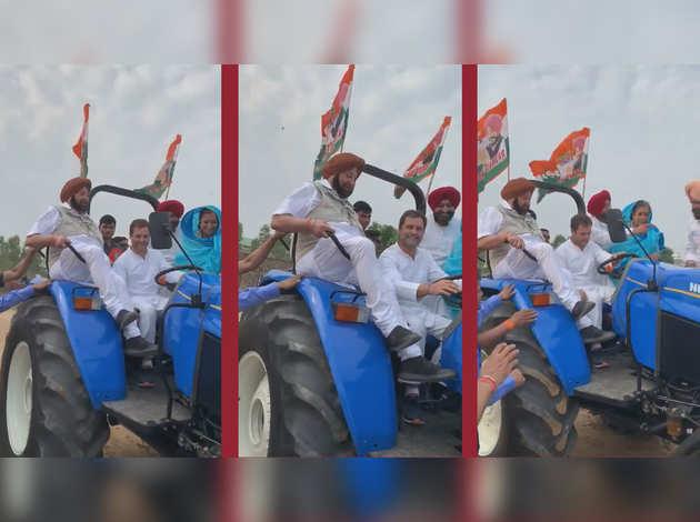 लोकसभा चुनाव: राहुल गांधी ने लुधियाना में चलाया ट्रैक्टर, कांग्रेस ने सोशल मीडिया पर शेयर किया विडियो
