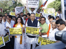 bjp protests against mamta banerjee due to violence in amit shah rally in kolkata