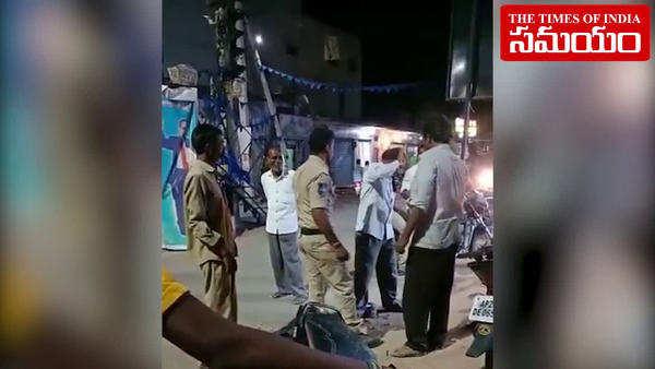 watch police constable attacks passenger near tandur bus stop