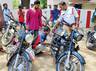 cops remove modified silencers from bikes to curb sound pollution in hyderabad