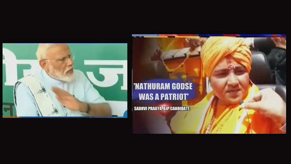 will never forgive sadhvi pragya for her statement about bapu pm modi