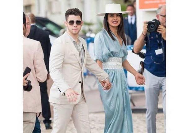 Cannes में निक के साथ नजर आईं प्रियंका
