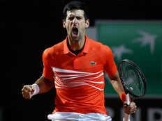 italy open novak djokovic reach into semifinal