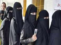 polling officers will check voters who wears face covered burqa