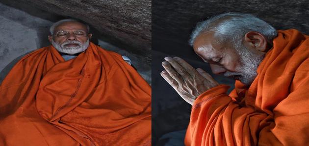 दर्शन-ध्यान के लिए केदारनाथ पहुंचे पीएम मोदी