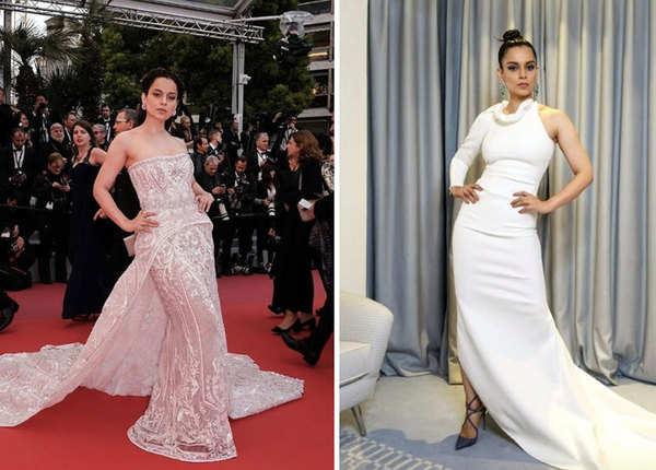 Cannes में दिखा कंगना का वाइट के लिए लगाव