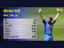 मोहम्मद शमी का वनडे इंटरनैशनल रेकॉर्ड
