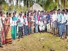 a old man from yanam distributes his land to poor pupils houses
