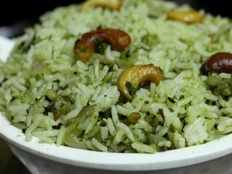 koththamalli leaves pulao or coriander leaves pulao recipe in tamil
