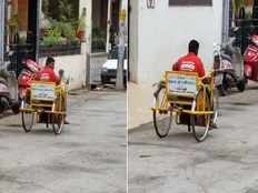 differently abled zomato delivery boy becomes hero in social media video goes viral