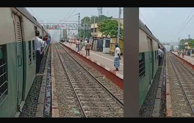 पश्चिम बंगाल के कनकिनाड़ा रेलवे स्टेशन पर बम फेंके गए