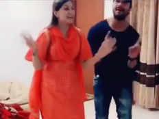 sapna chaudhary shared a dance video with khesari lal yadav on his bhojpuri song theek hai