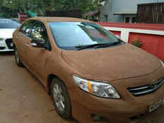 ahmedabad resident has coated her car with cow dung to beat the heat