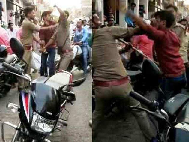 बुजुर्ग की पुलिसकर्मियों ने की पिटाई