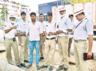 allu aravind and allu arjun distributing buttermilk for hyderabad traffic police in this summer