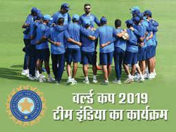 ICC World Cup: जानें, टीम इंडिया के पूरा शेड्यूल