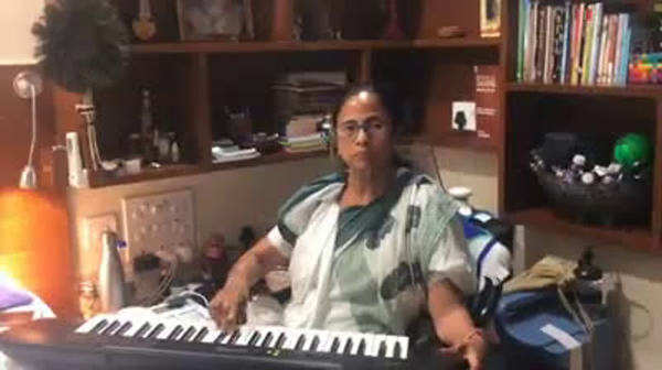 watch west bengal cm mamata banerjee plays piano