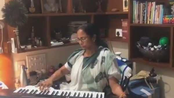 cm mamata banerjee plays synthesizer ahead of election results 2019