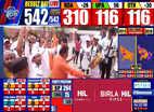 बीजेपी कार्यकर्ताओं ने मनाया जश्न, NDA की सरकार बनना तय