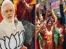 watch bjp workers celebrate after partys massive victory