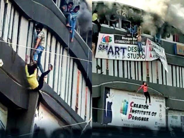 तीसरे मंजिल से कूदने पर तीन छात्रों की गई जान
