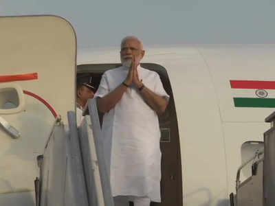 गुजरात पहुंचे प्रधानमंत्री नरेंद्र मोदी