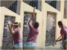 ysrcp activists demolish foundation stones of tdp in kurnool district
