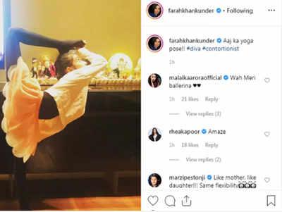 Farah Khan ने पोस्ट की बैले डांसर बनी बेटी की तस्वीर